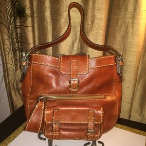 Chloe Edith Calfskin Shoulder/Handbag/Purse-Cognac
